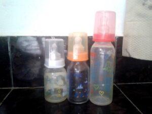Nuk orthodentic feeding bottle