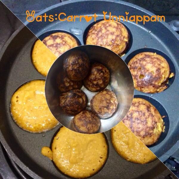 oats carrots unniyappam