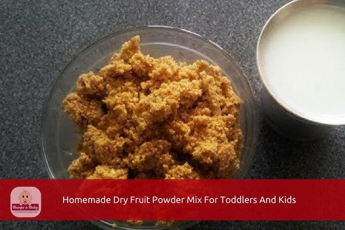 home made dry fruit powder mix