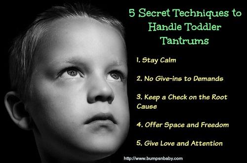 secret techniques to handle toddler tantrums