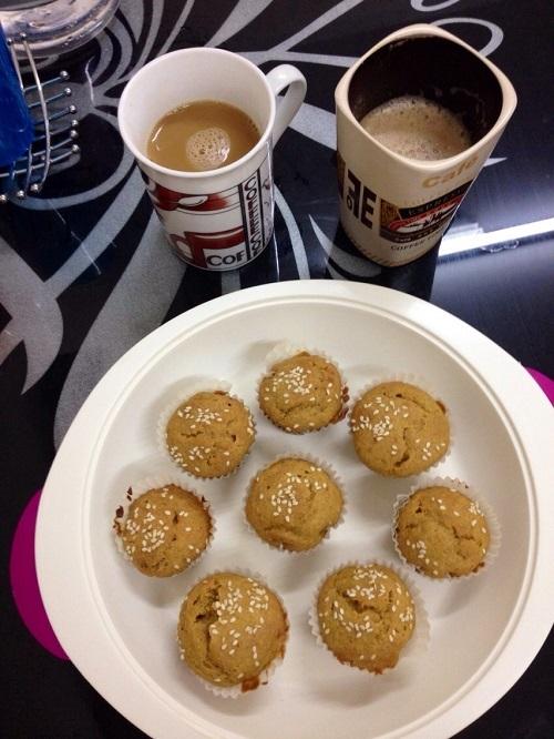 wheat pumpkin muffins