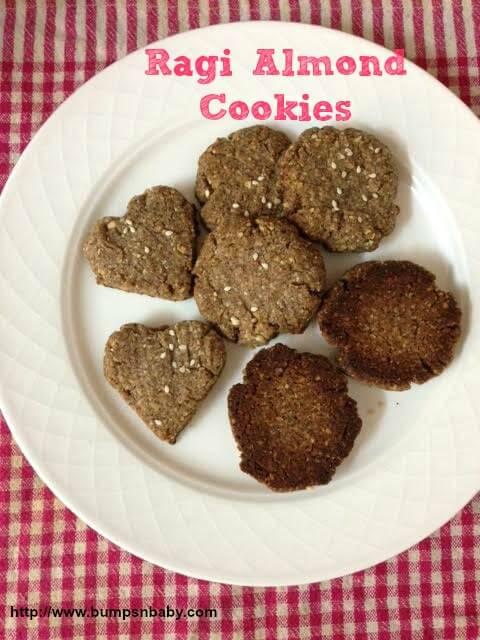 ragi almond cookies