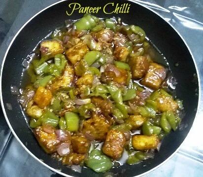 Paneer Chilli recipe
