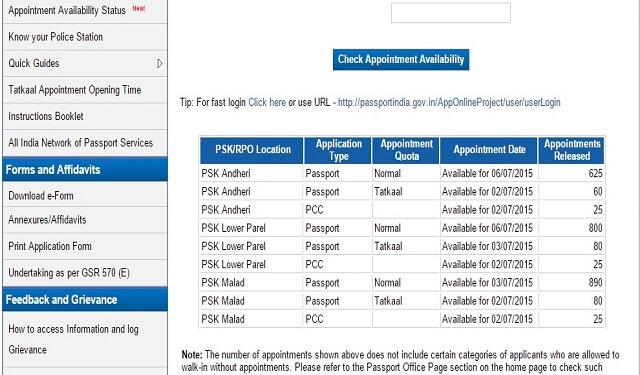 availability status