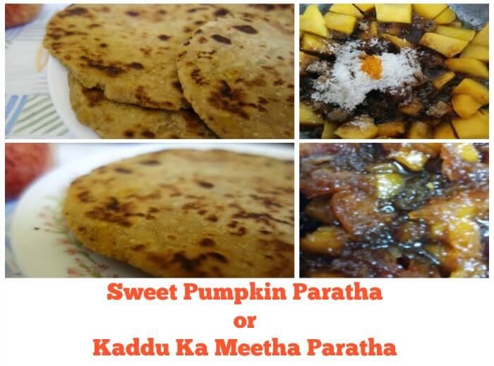 sweet pumpkin paratha