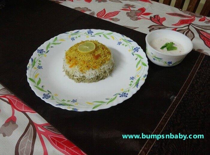 tiranga baath recipe