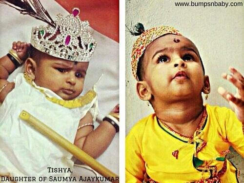 Janmashtami dress for babies and kids crown
