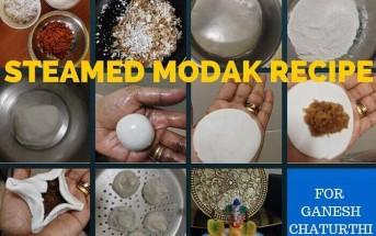 steamed modak recipe