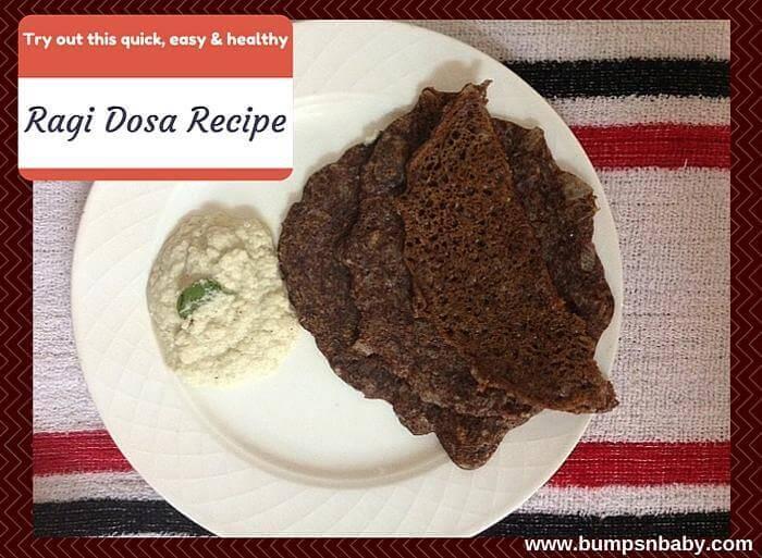 ragi dosa recipe for toddlers