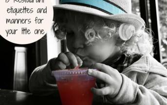 resturant etiquettes for children
