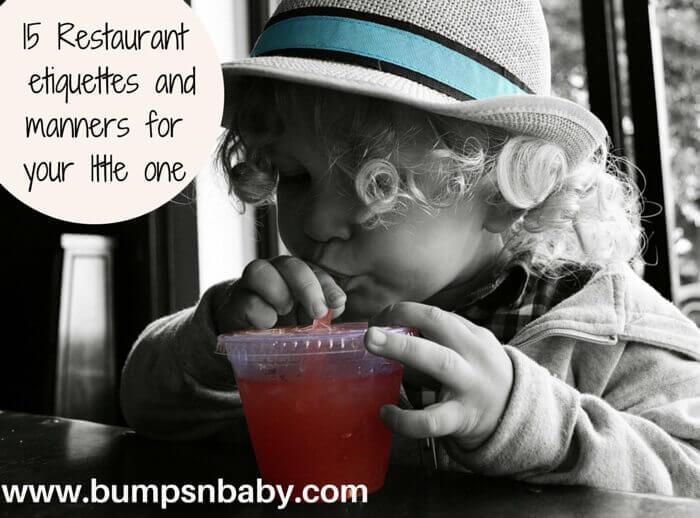 restaurant etiquettes for children