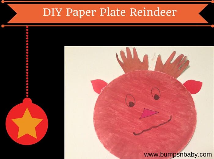 paper plate reindeer diy