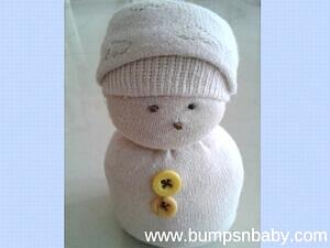 diy snowman sock