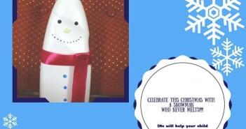 snowman money bank diy