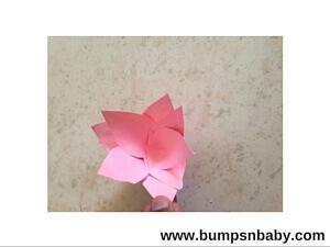 paper lotus flower diy