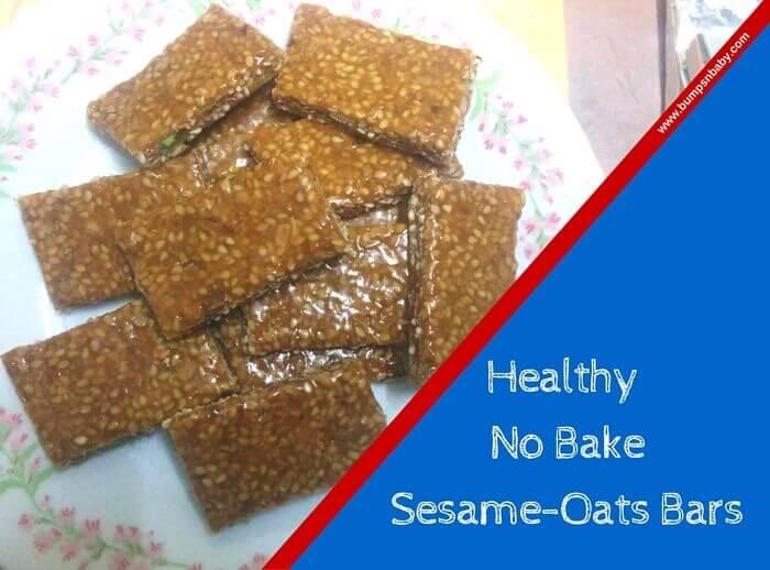 oats sesame bar recipe