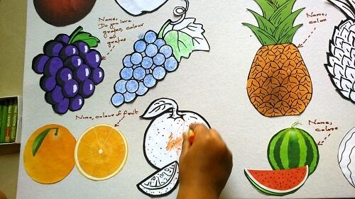 coloring the orange