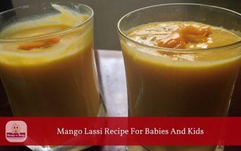 mango lassi recipe for babies