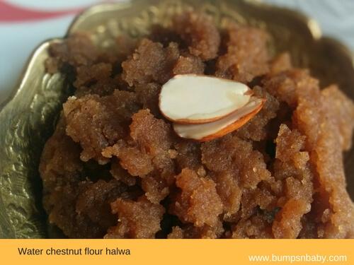 waterchestnut halwa - janmashtami recipes