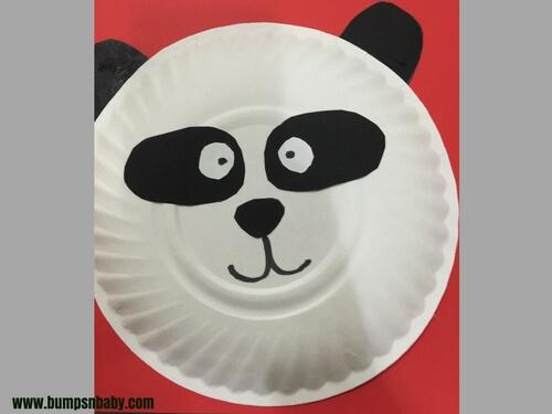 paper plate craft panda for kids