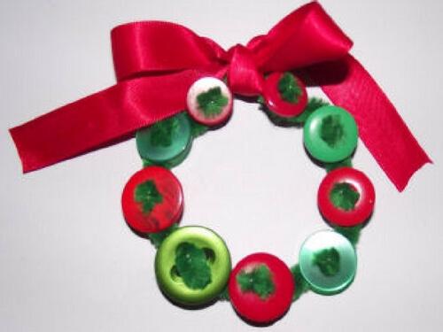 Christmas crafts for kids bottle cap wreath