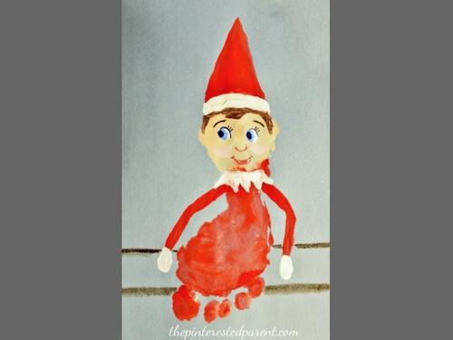 Christmas crafts for kids elf on shelf