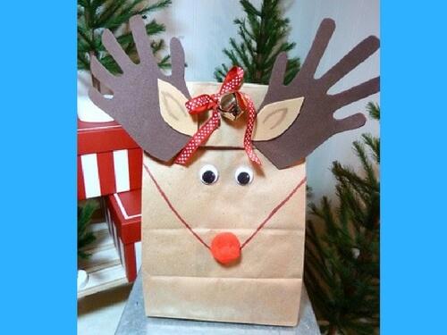 Christmas crafts for kids gift bag