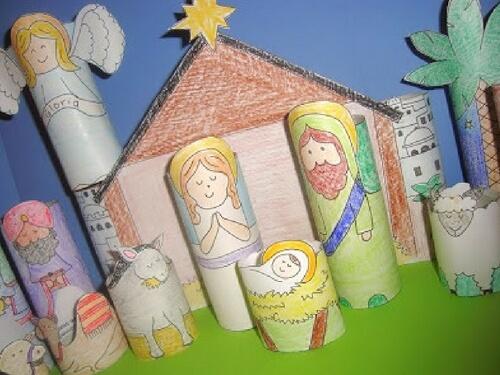 Christmas crafts for kids nativity DIY