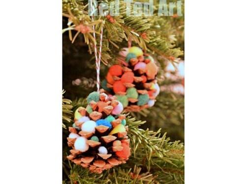 Christmas crafts for kids pinecone smas tree