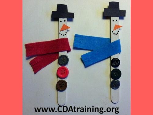 Christmas crafts for kids snowmen