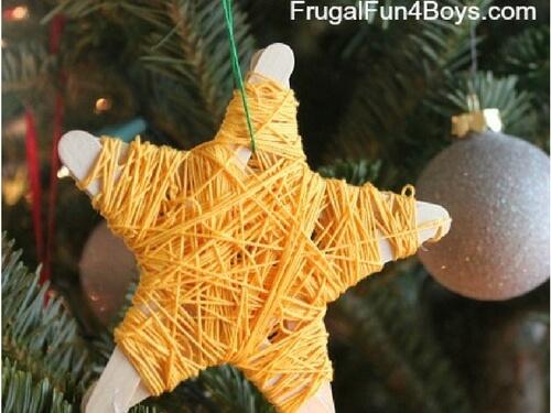 Christmas crafts for kids yarn star