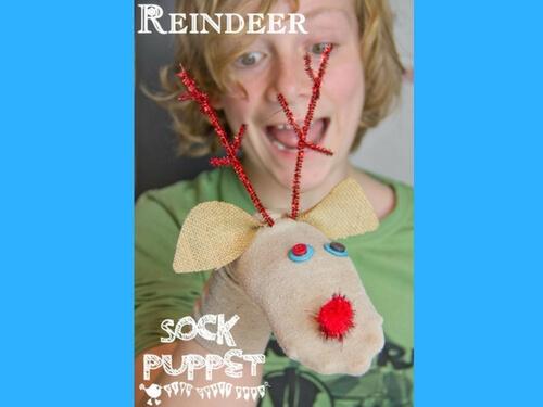 christmas crafts for kids reindeer puppet