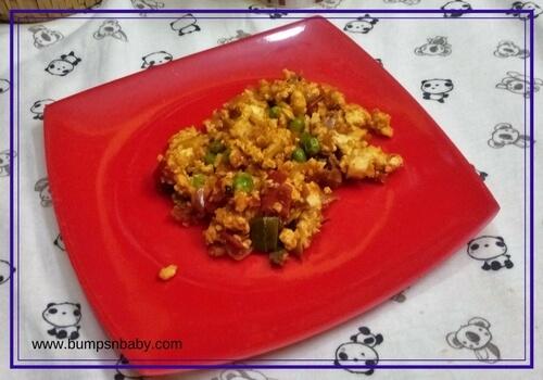 mattar paneer bhurji for kids