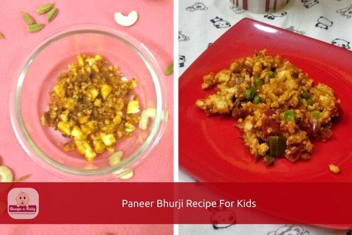 paneer bhurji recipe for kids