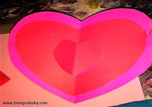 popup heart card
