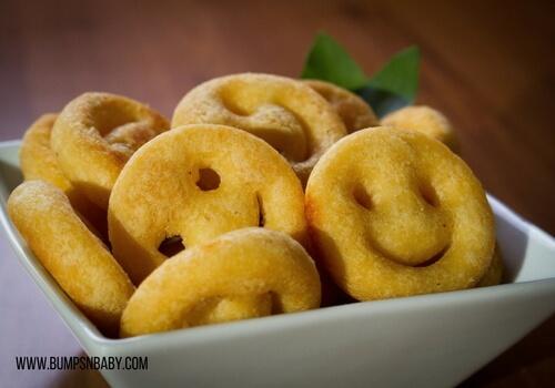 First birthday party menu potato smiley