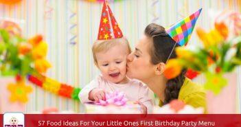first birthday party menu