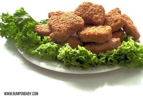 first birthday party menu chicken nuggets