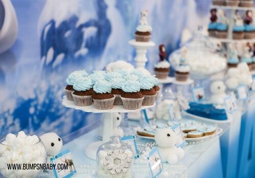 first birthday party menu cupcake