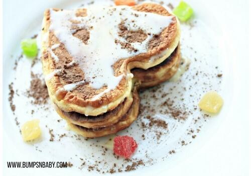 first birthday party menu pancakes