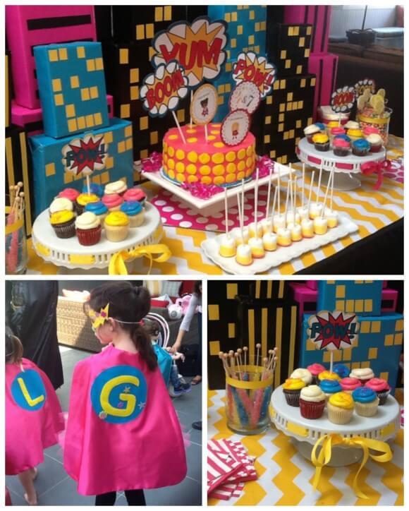 superhero birthday party themes for girls