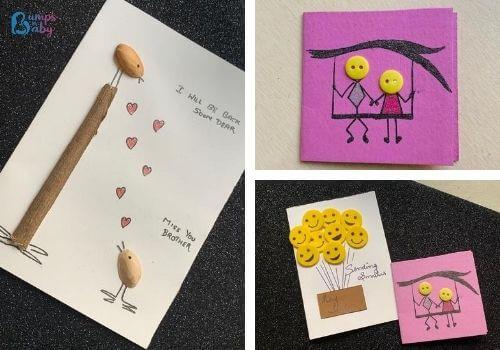 DIY Raksha Bandhan gifts handmade greeting card