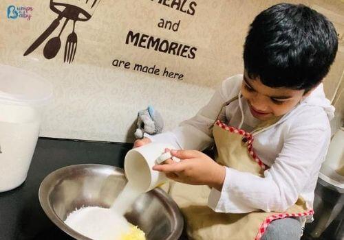 Lockdown activities for kids baking