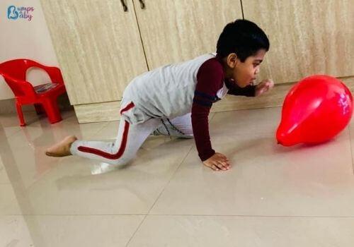 Lockdown activities for kids balloon blow