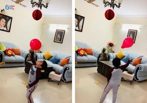 Lockdown activities for kids balloon play