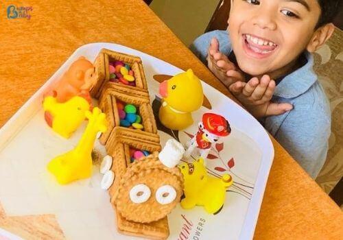 Lockdown activities for kids biscuit play