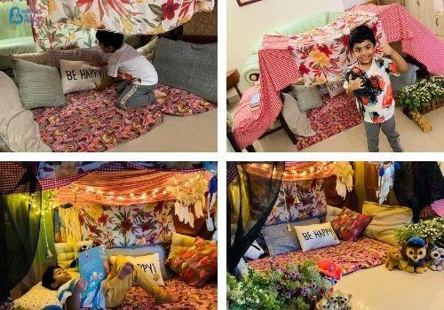 Lockdown activities for kids diy tent