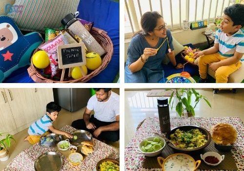 Lockdown activities for kids indoor picnic