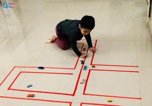 Lockdown activities for kids race track