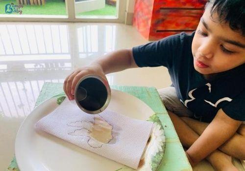 Lockdown activities for kids tissue fun
